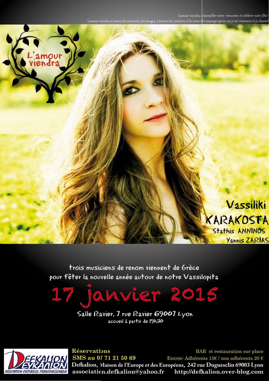 samedi 17 janvier 2015 - Vasiliki Karakosta