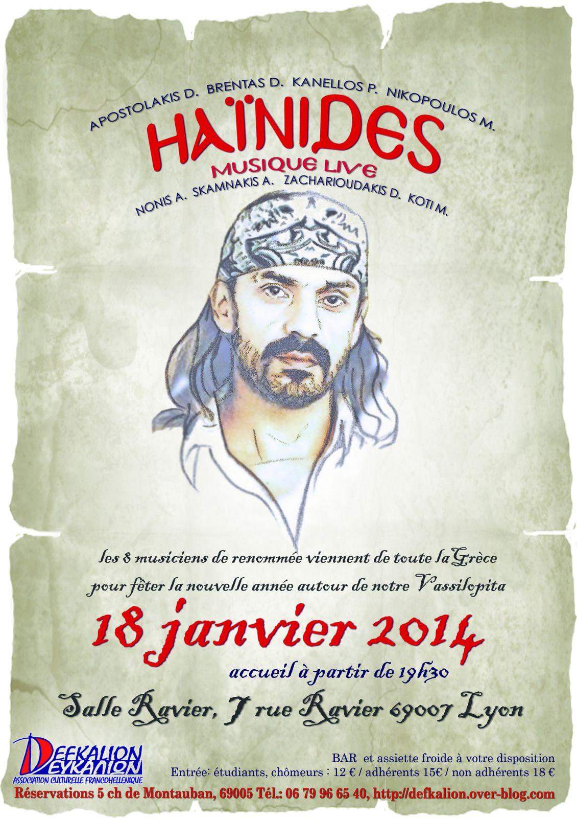 HAÏNIDES - 18 janvier 2013 à Lyon